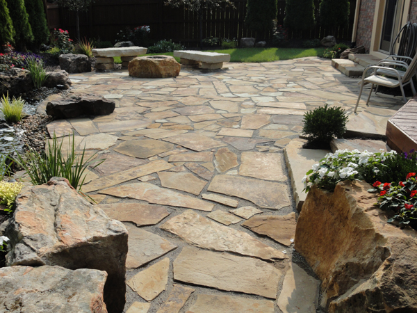 Flagstone Patios Greenwood In Landscape Design