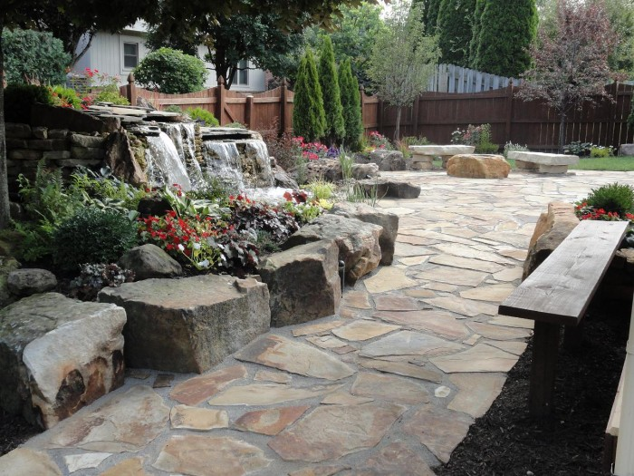 Sandstone Flagstone Patio